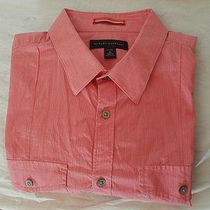 Banana Republic Micro-Striped Short Sleeve Shirt
